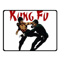 Kung Fu  Fleece Blanket (Small)