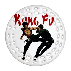 Kung Fu  Round Filigree Ornament (Two Sides)