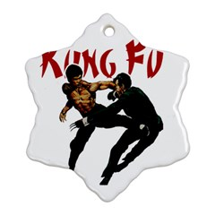 Kung Fu  Snowflake Ornament (Two Sides)