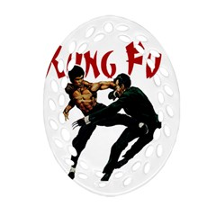Kung Fu  Oval Filigree Ornament (Two Sides)