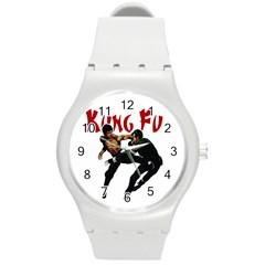 Kung Fu  Round Plastic Sport Watch (M)
