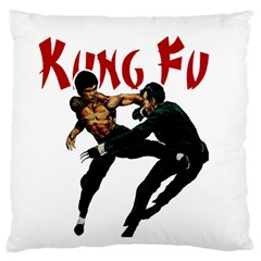 Kung Fu  Large Cushion Case (One Side)