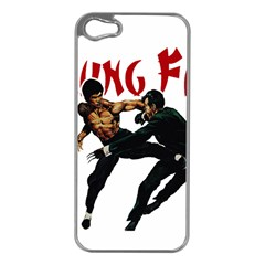 Kung Fu  Apple iPhone 5 Case (Silver)