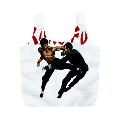 Kung Fu  Full Print Recycle Bags (M)