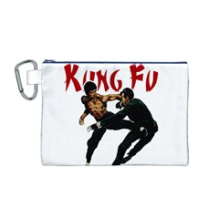 Kung Fu  Canvas Cosmetic Bag (M)