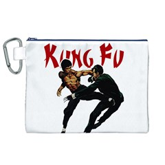 Kung Fu  Canvas Cosmetic Bag (XL)