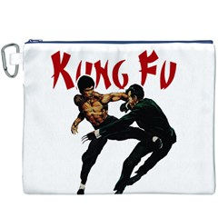 Kung Fu  Canvas Cosmetic Bag (XXXL)