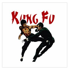 Kung Fu  Large Satin Scarf (Square)