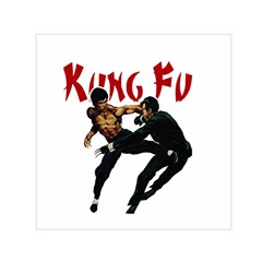 Kung Fu  Small Satin Scarf (Square)