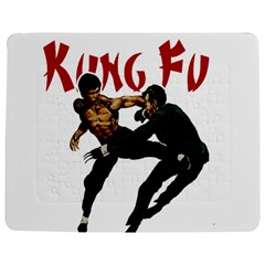 Kung Fu  Jigsaw Puzzle Photo Stand (Rectangular)