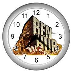 Ben Hur Wall Clocks (Silver)