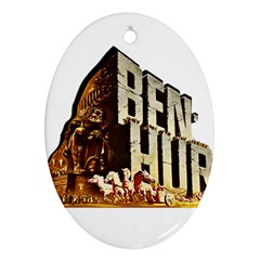 Ben Hur Oval Ornament (Two Sides)