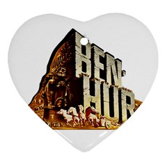 Ben Hur Heart Ornament (Two Sides)