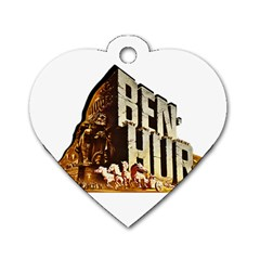 Ben Hur Dog Tag Heart (Two Sides)