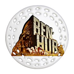 Ben Hur Round Filigree Ornament (Two Sides)