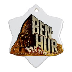 Ben Hur Snowflake Ornament (Two Sides)