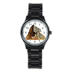 Ben Hur Stainless Steel Round Watch