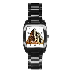 Ben Hur Stainless Steel Barrel Watch