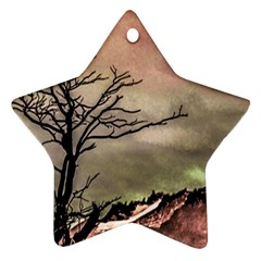 Fantasy Landscape Illustration Ornament (Star)