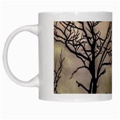 Fantasy Landscape Illustration White Mugs