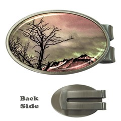 Fantasy Landscape Illustration Money Clips (Oval)