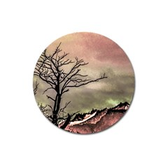 Fantasy Landscape Illustration Magnet 3  (Round)