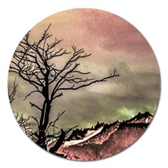 Fantasy Landscape Illustration Magnet 5  (Round)
