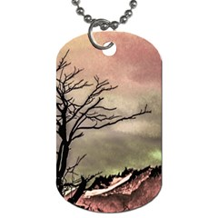 Fantasy Landscape Illustration Dog Tag (One Side)
