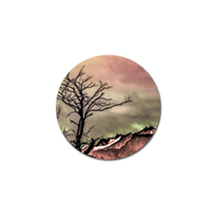 Fantasy Landscape Illustration Golf Ball Marker (4 pack)