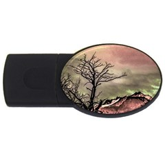 Fantasy Landscape Illustration USB Flash Drive Oval (1 GB)