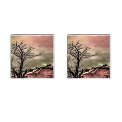 Fantasy Landscape Illustration Cufflinks (Square)