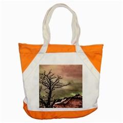 Fantasy Landscape Illustration Accent Tote Bag