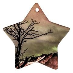 Fantasy Landscape Illustration Star Ornament (Two Sides)