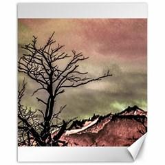 Fantasy Landscape Illustration Canvas 16  x 20