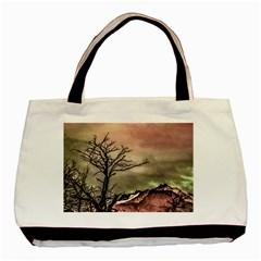 Fantasy Landscape Illustration Basic Tote Bag (Two Sides)