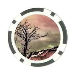 Fantasy Landscape Illustration Poker Chip Card Guard (10 pack)