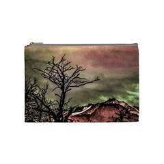Fantasy Landscape Illustration Cosmetic Bag (Medium)