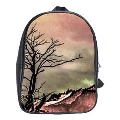Fantasy Landscape Illustration School Bags(Large)