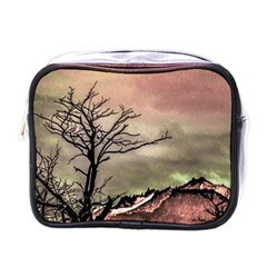 Fantasy Landscape Illustration Mini Toiletries Bags