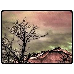 Fantasy Landscape Illustration Fleece Blanket (Large)