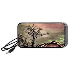 Fantasy Landscape Illustration Portable Speaker (Black)