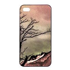 Fantasy Landscape Illustration Apple iPhone 4/4s Seamless Case (Black)