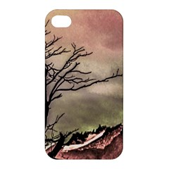 Fantasy Landscape Illustration Apple iPhone 4/4S Premium Hardshell Case