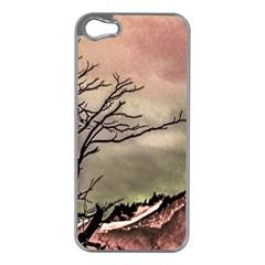 Fantasy Landscape Illustration Apple iPhone 5 Case (Silver)