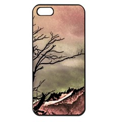 Fantasy Landscape Illustration Apple iPhone 5 Seamless Case (Black)