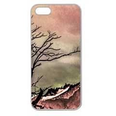 Fantasy Landscape Illustration Apple Seamless iPhone 5 Case (Clear)