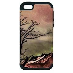 Fantasy Landscape Illustration Apple iPhone 5 Hardshell Case (PC+Silicone)
