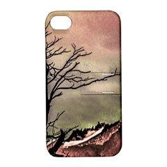 Fantasy Landscape Illustration Apple iPhone 4/4S Hardshell Case with Stand