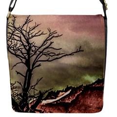 Fantasy Landscape Illustration Flap Messenger Bag (S)