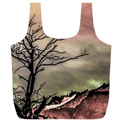 Fantasy Landscape Illustration Full Print Recycle Bags (L)